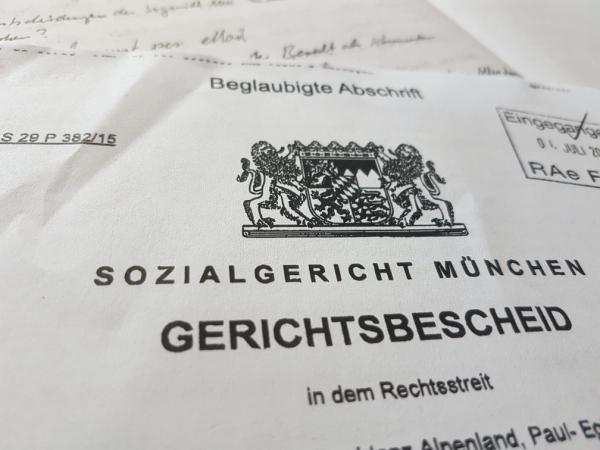 Sozialgericht München - Rechtliche Situation von MDK Qualitätsprüfungen, Transparenzberichten