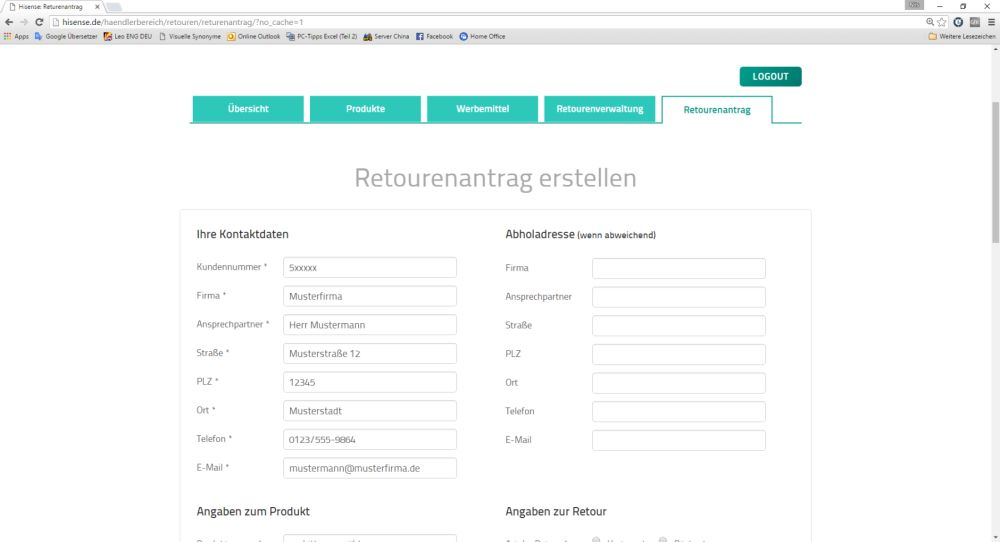 Hisense startet neues Online-Retourenportal