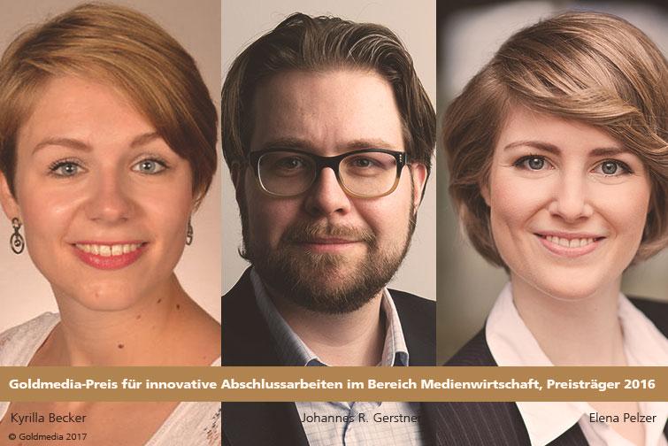 Goldmedia-Preis für Abschlussarbeiten im Bereich Medienwirtschaft verliehen
