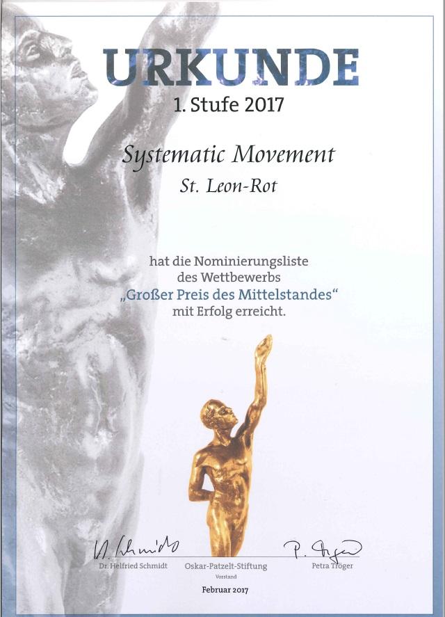 """Relocation Experte für """"Großer Preis des Mittelstandes 2017"""" nominiert"""
