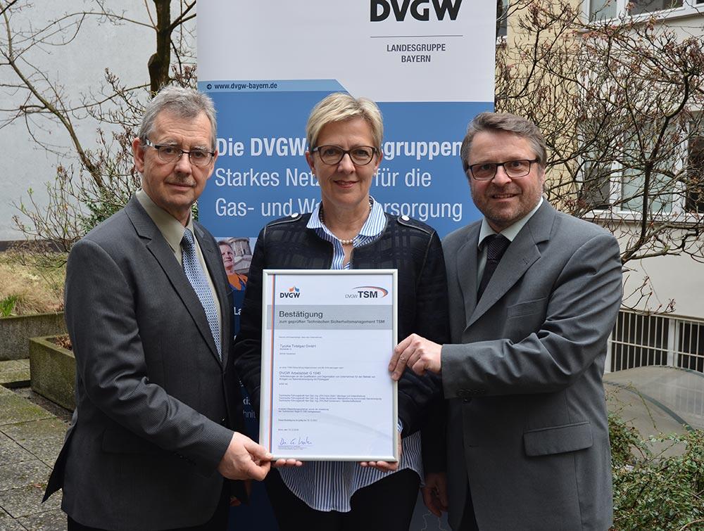 """Erfolgreiche Rezertifizierung über """"Technisches Sicherheitsmanagement"""" zur Flüssiggasversorgung"""
