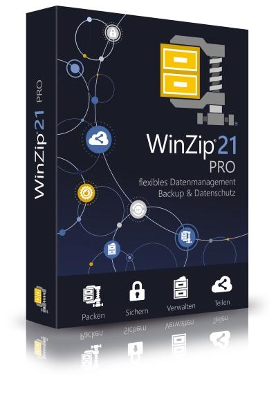 WinZip 21 Pro: Kleinere Dateien, komfortableres Arbeiten und sicher in der Cloud