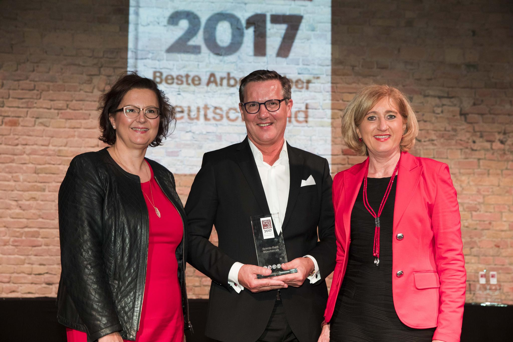 Sparda-Bank München als einer der besten Arbeitgeber Deutschlands ausgezeichnet