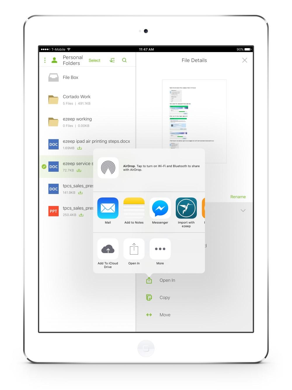 ezeep ermöglicht mobiles Drucken für Citrix ShareFile