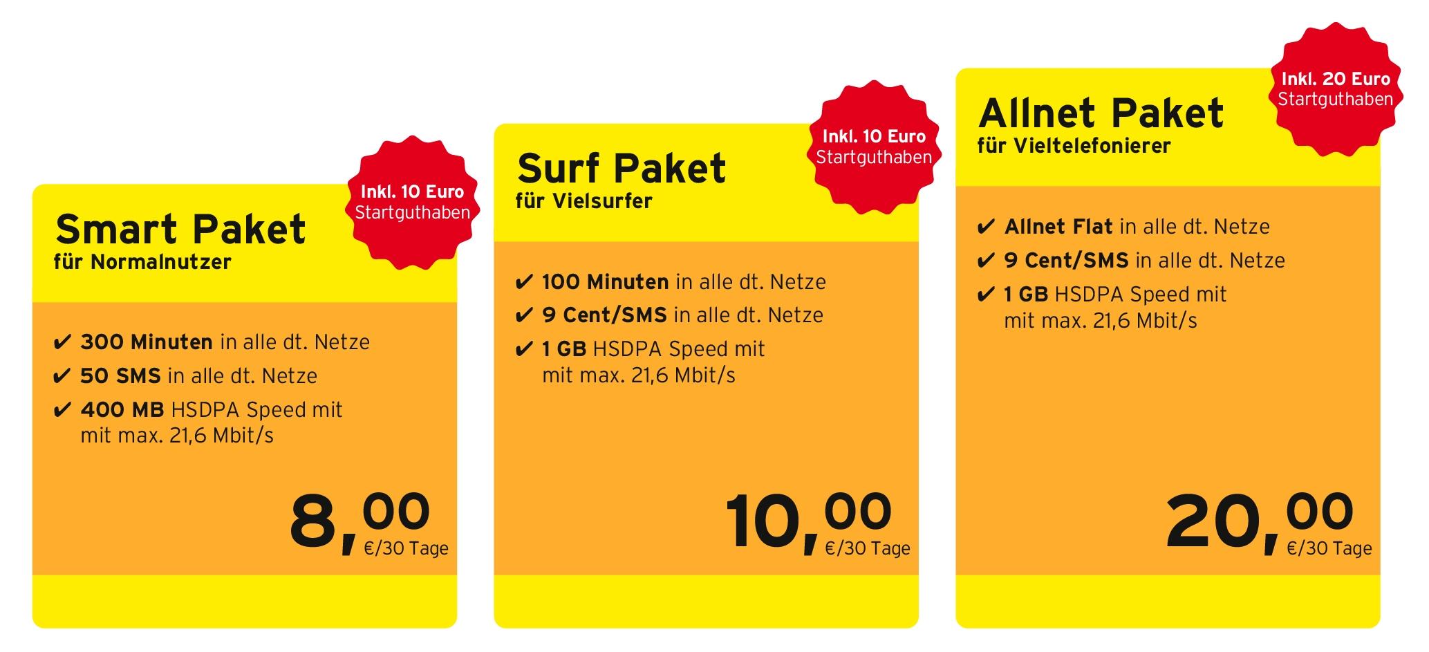 Neu bei congstar: Drei Prepaid-Pakete mit höherer Surfgeschwindigkeit