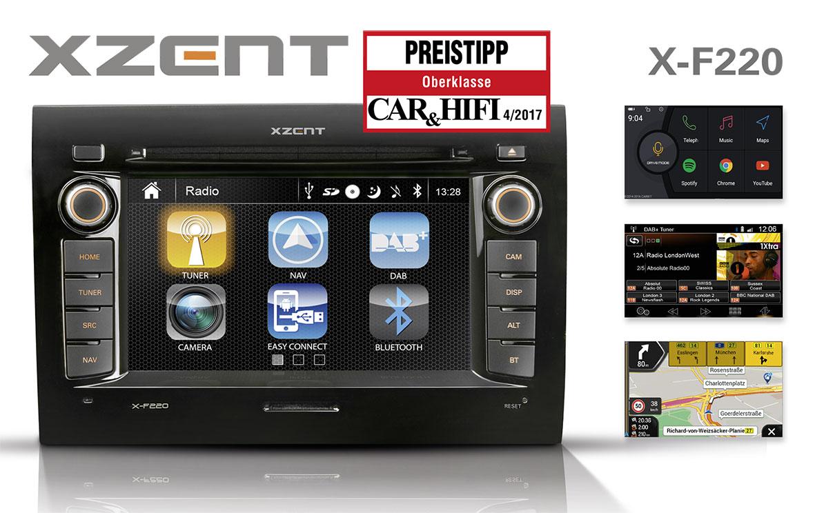 Preistipp - XZENTs neuer Infotainer X-F220 für Fiat Ducato