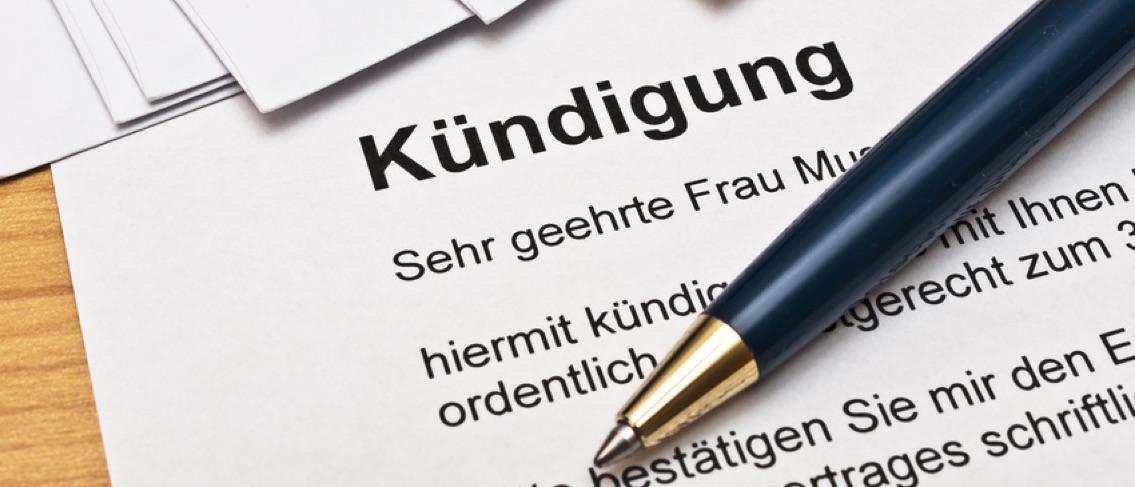 Kündigung - Rechtstipps vom Anwalt in Baden-Baden