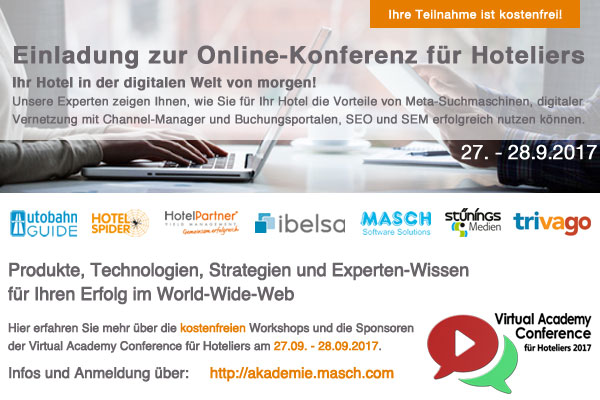 Virtual Academy Conference 2017 für Hoteliers