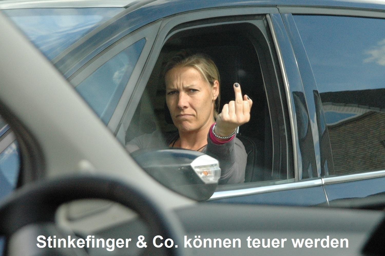 Stinkefinger & Co. können teuer werden