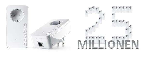 Neuer Powerline-Meilenstein: devolo liefert #xFCber 25 Mio. dLAN#xAE Adapter aus