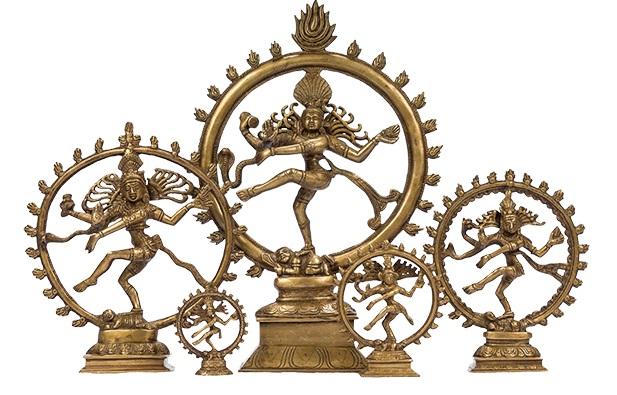 Symbol f#xFCr Wandel und den Puls des Lebens - Nataraja, der tanzende Shiva