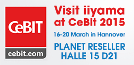 iiyama auf der CeBIT 2015 -                                                             LFD und Multitouch f#xFCr innovative Digital-Signage-Projekte