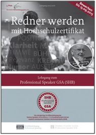 """Redner werden mit Hochschulzertifikat: Neues von der """"GSA University"""""""