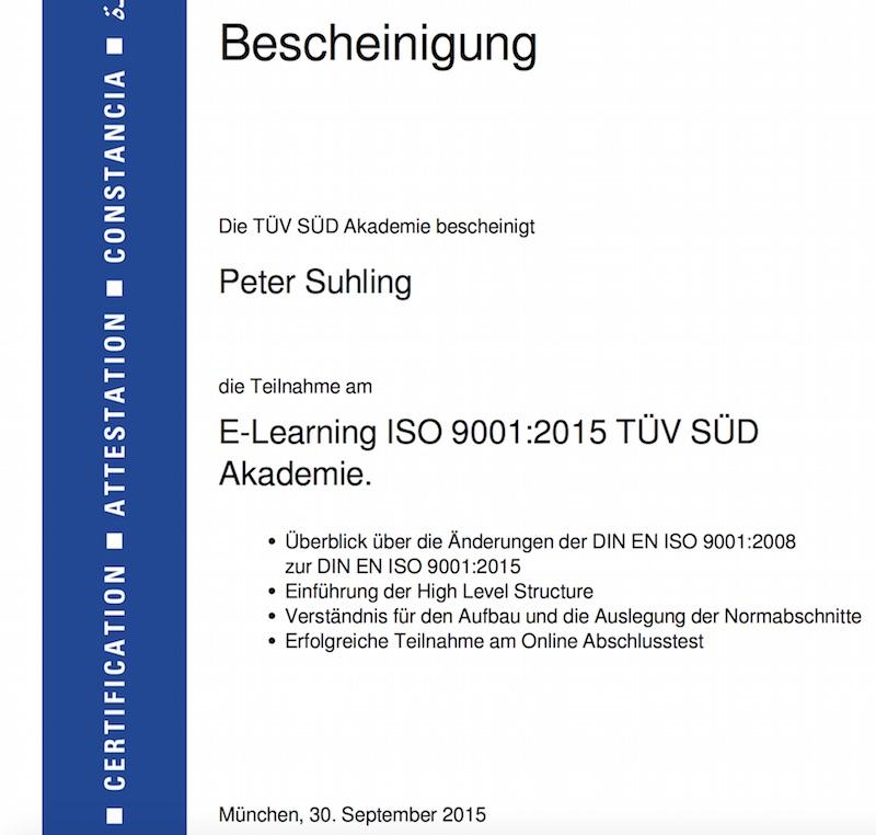 Das Risikomanagement ist Forderung der neuen ISO 9001:2015
