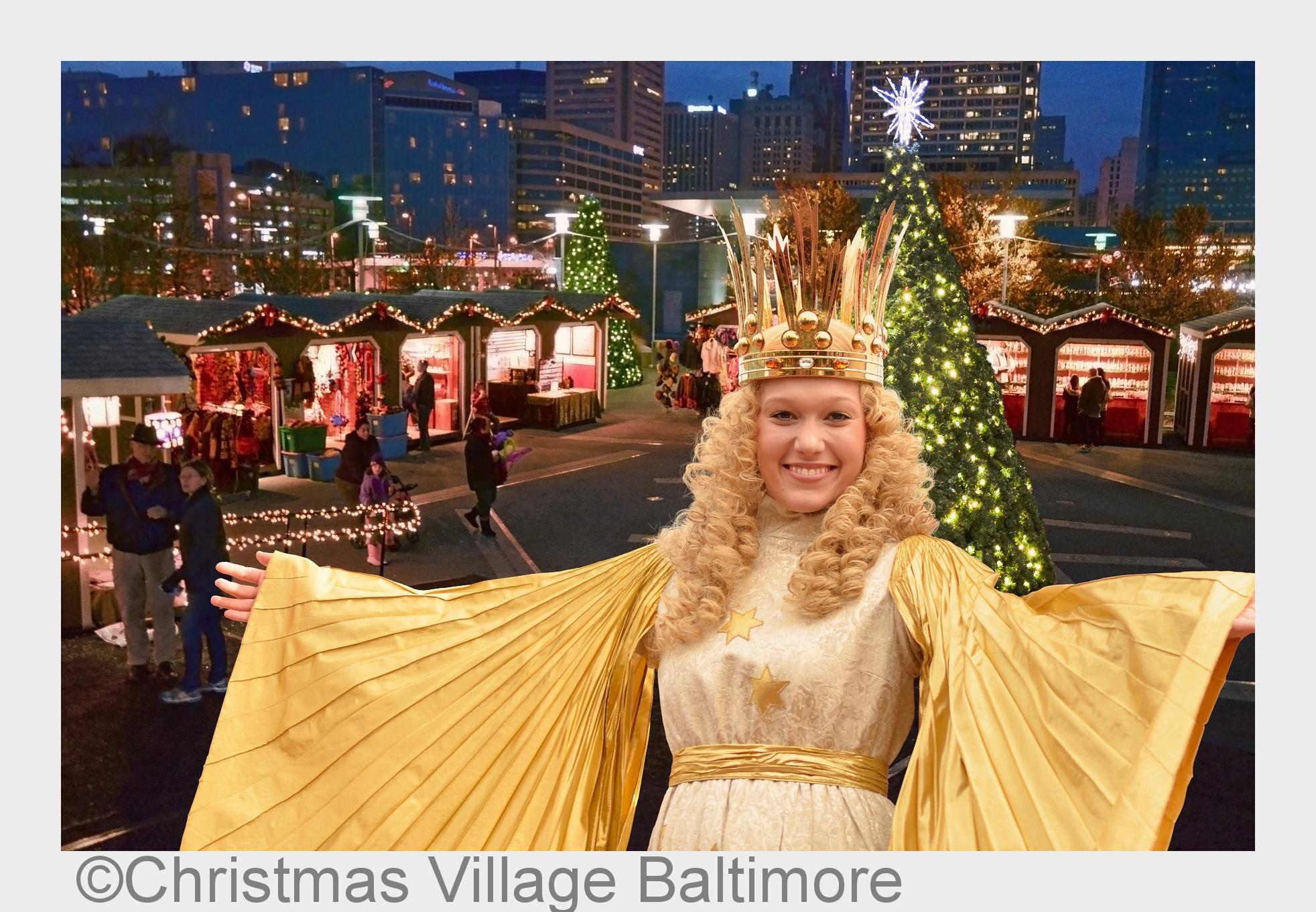 N#xFCrnberger Christkind er#xF6ffnet deutschen Weihnachtsmarkt in der US-Hafenmetropole Baltimore
