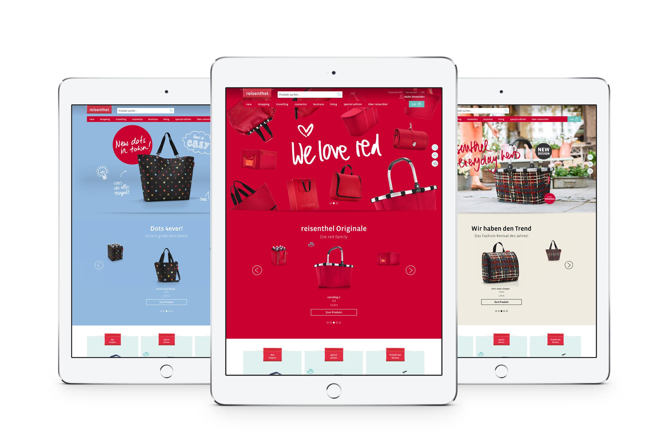 Zeichen amp Wunder entwickelt Markenwebsite und Shopdesign von reisenthel.com