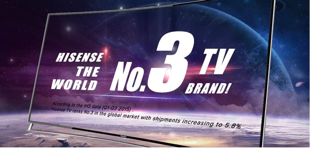 Hisense jetzt drittgr#xF6#xDFter TV-Hersteller weltweit
