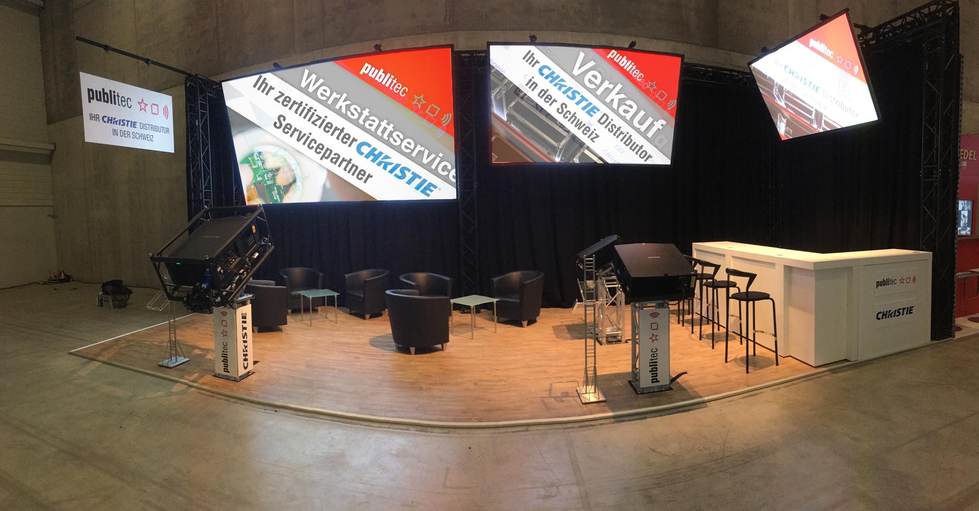publitec – Erfolgreicher Auftritt auf Schweizer Fachmesse Light&Sound / Integrated Media Systems