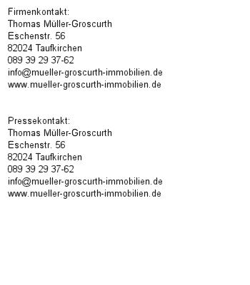 Bester Immobilienmakler in München: Müller-Groscurth Immobilien sieben Mal in Folge ausgezeichnet