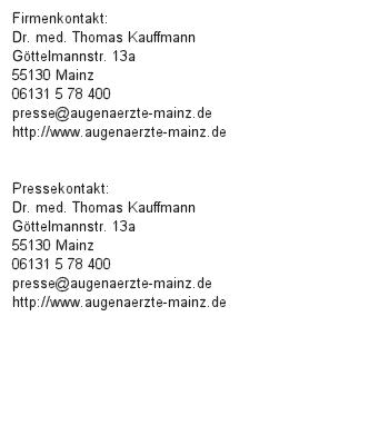 Medikamente vor IVOM absetzen? Infos vom Augenarzt aus Mainz