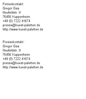 Paletten für besondere Produkte in der Region Appenweier