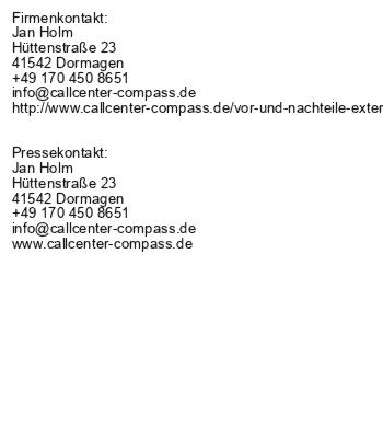 Vor- und Nachteile externer Call-Center-Dienstleister