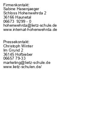 ONLINE-Beratungstage im Lietz Internat Hohenwehrda am 08.07. + 12.07.2021, jeweils von 18:00 bis 20:00 Uhr