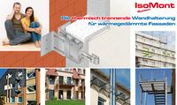 Das neue IsoMont-System für wärmegedämmte Fassaden: