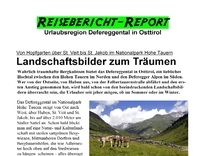 Defereggental in Osttirol  im O-Magazin