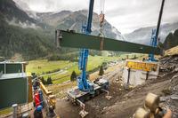 Alpine Baustelle der Superlative: Neubau der Felbertauernstraße trotzt dem schlechten Wetter
