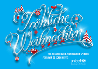 UNICEF feiert Weihnachten im Spätsommer