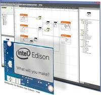 Intel Edison Modul grafisch programmieren