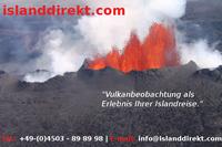 Island-Vulkan: mit Islanddirekt.com Vulkanbeobachtung als Erlebnis einer Islandreise