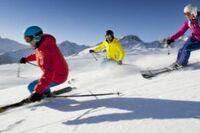 Gletscher Skifahren im Herbst