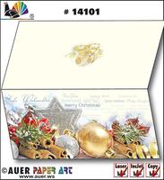 Weihnachtskarten von Auer zum selbst bedrucken - geniale Idee!