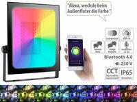 Luminea Home Control Outdoor-Fluter LED-450
