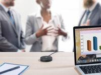 auvisio Omnidirektionales 360°-Kondensator-Konferenzmikrofon