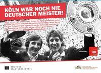 Kampagne wirbt  für Kölner Geschichte