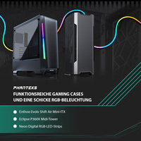 NEU bei Caseking - Enthoo Evolv Shift Air, Eclipse P360X und Neon Digital RGB LED-Strips von PHANTEKS