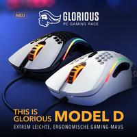 JETZT bei Caseking verfügbar - die ergonomische Glorious Model D Gaming-Maus!