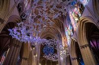 Über 2.000 Papiertauben schweben in der National Cathedral in Washington, DC