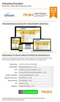 Onlineshop VirtueMart | ab 799 Euro