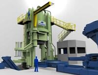 Siempelkamp liefert 6.000 t (60 MN) Stauch- und Lochpresse für die ThyssenKrupp Rothe Erde GmbH