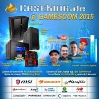 Die gamescom 2015 mit Caseking! High-End-Hardware, riesige Gaming-Area, mehr als 1.000 Preisen nur in Halle 8.1, Stand A051