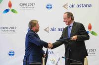 Air Astana ist offizieller Airline-Partner für die EXPO 2017 in Astana