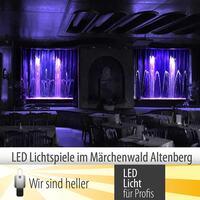 Lichtspiele im Märchenwald Altenberg mit neuer LED Technik