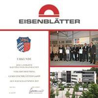Gerd Eisenblätter GmbH erhält Wirtschaftspreis für vorbildlich ökologisches Handeln vom Landkreis Bad Tölz/Wolfratshausen 2015.