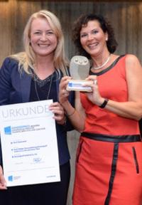 Europäischer Trainings- und Sonderpreis des BDVT für 9-Levels zertifizierte Trainerin
