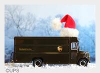 Santas Helfer mit dem UPS Christmas Truck unterwegs