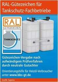 RAL-Gütezeichen für Tankschutz-Fachbetriebe